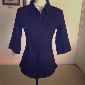 4/$20 Zenana Outfitters Black Button Down Shirt